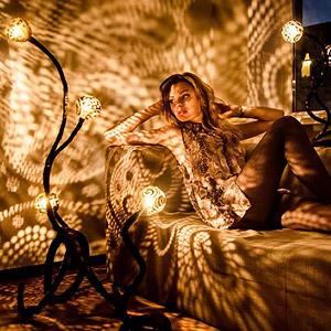 椰子灯的光影艺术