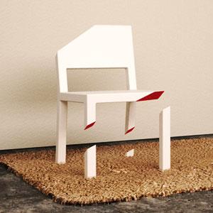 只有一只腿的椅子