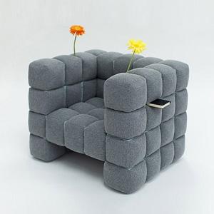 迷失的夹层格子沙发