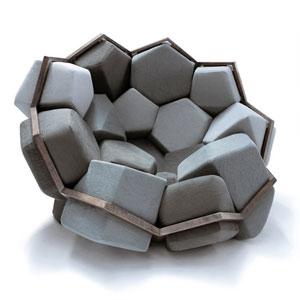 岩石块组成的沙发椅