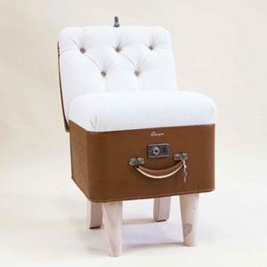 复古行李箱椅子