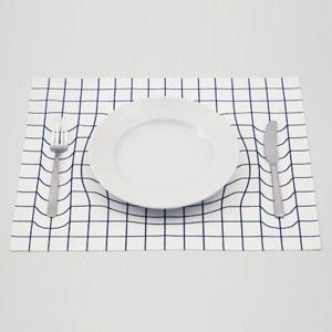 视错觉栅格餐垫