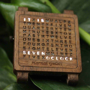 木质手表创意 Wooden Word Watch