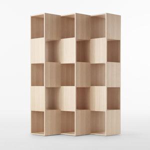 折叠视错觉书架