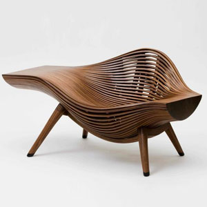 层叠扭曲仿生木质家具